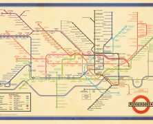 The Original Beck Map with the Modern Network