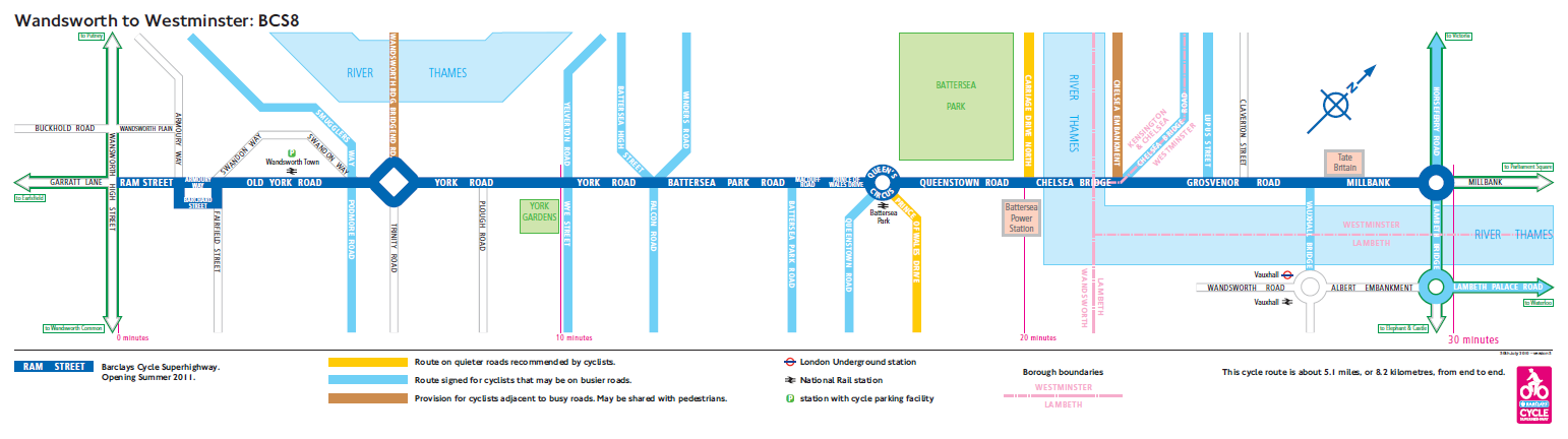 Barclays Cycle Superhighway Line Maps
