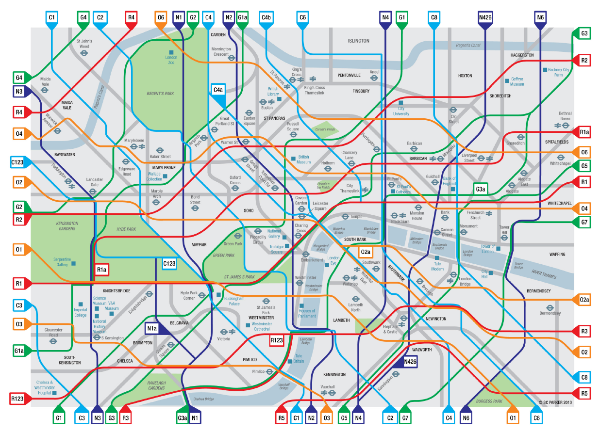Angel London Map.London Cycle Map Wins Funding Mapping London