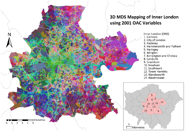 A Multidimensional Geodemographic Map Mapping London: Demographic Map Uk At Infoasik.co
