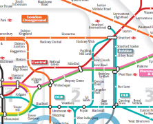 Tube Maps at Funny Angles