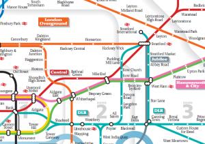 Tube Maps at Funny Angles