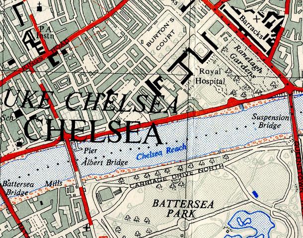 Classic Ordnance-Survey 1:25000 Map of London