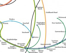 The Twisted London Underground Map