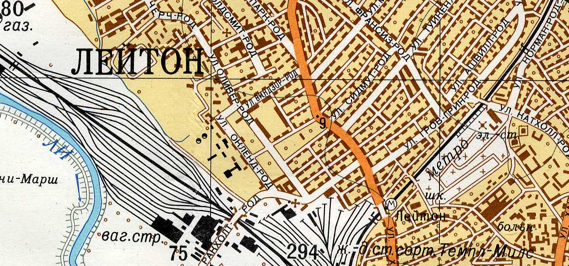 Soviet Military Maps of London