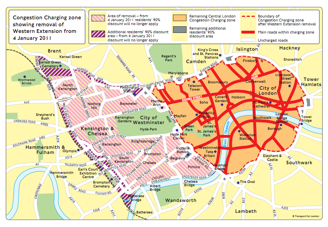 London A Year in Maps – London Travel Zone Map