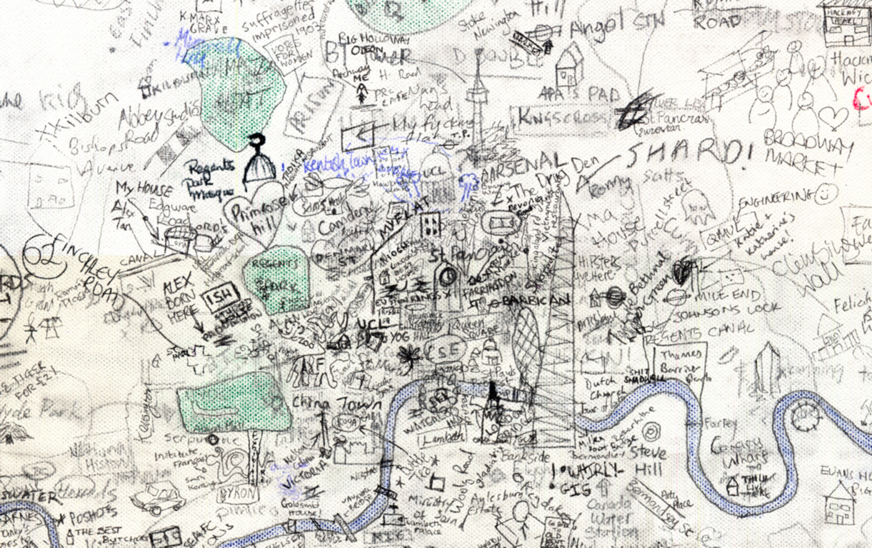 Best London Map.Ucl Hand Drawn Map Of London Mapping London