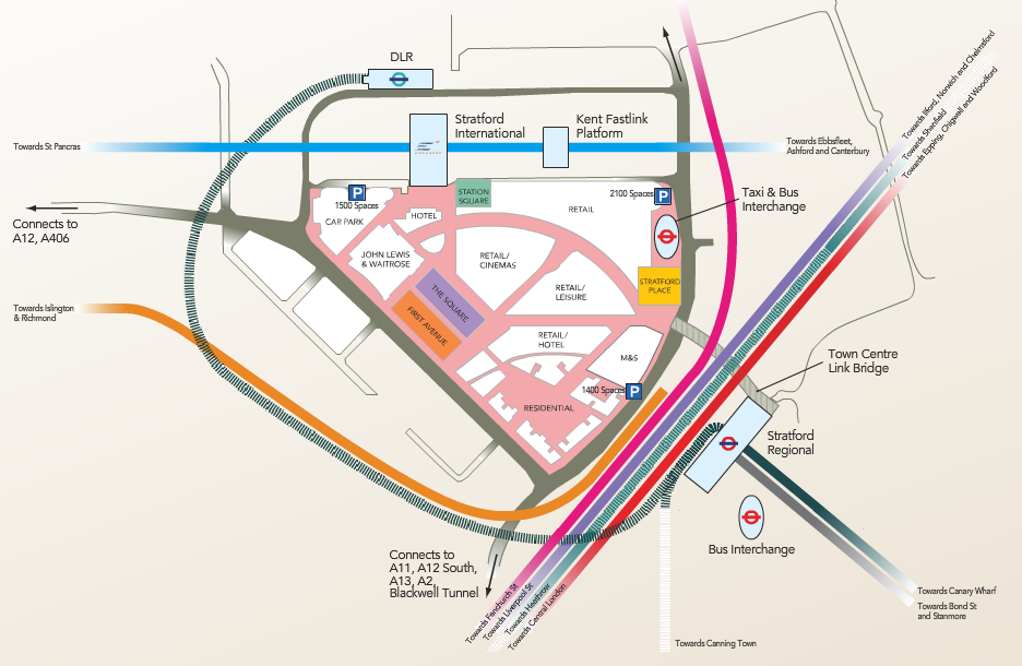 Westfield Stratford Map London: A Year in Maps | Mapping London Westfield Stratford Map