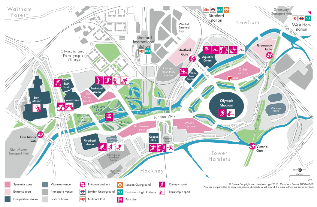 The Olympic Park New Names New Map Mapping London