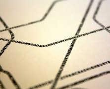 Typographic Tube Map