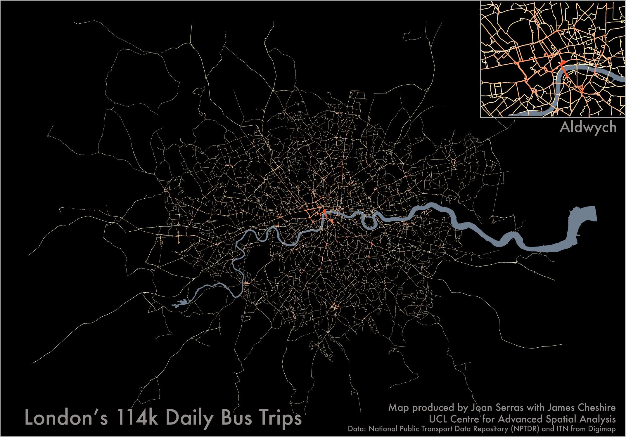 Mapped: Every Bus Trip in London