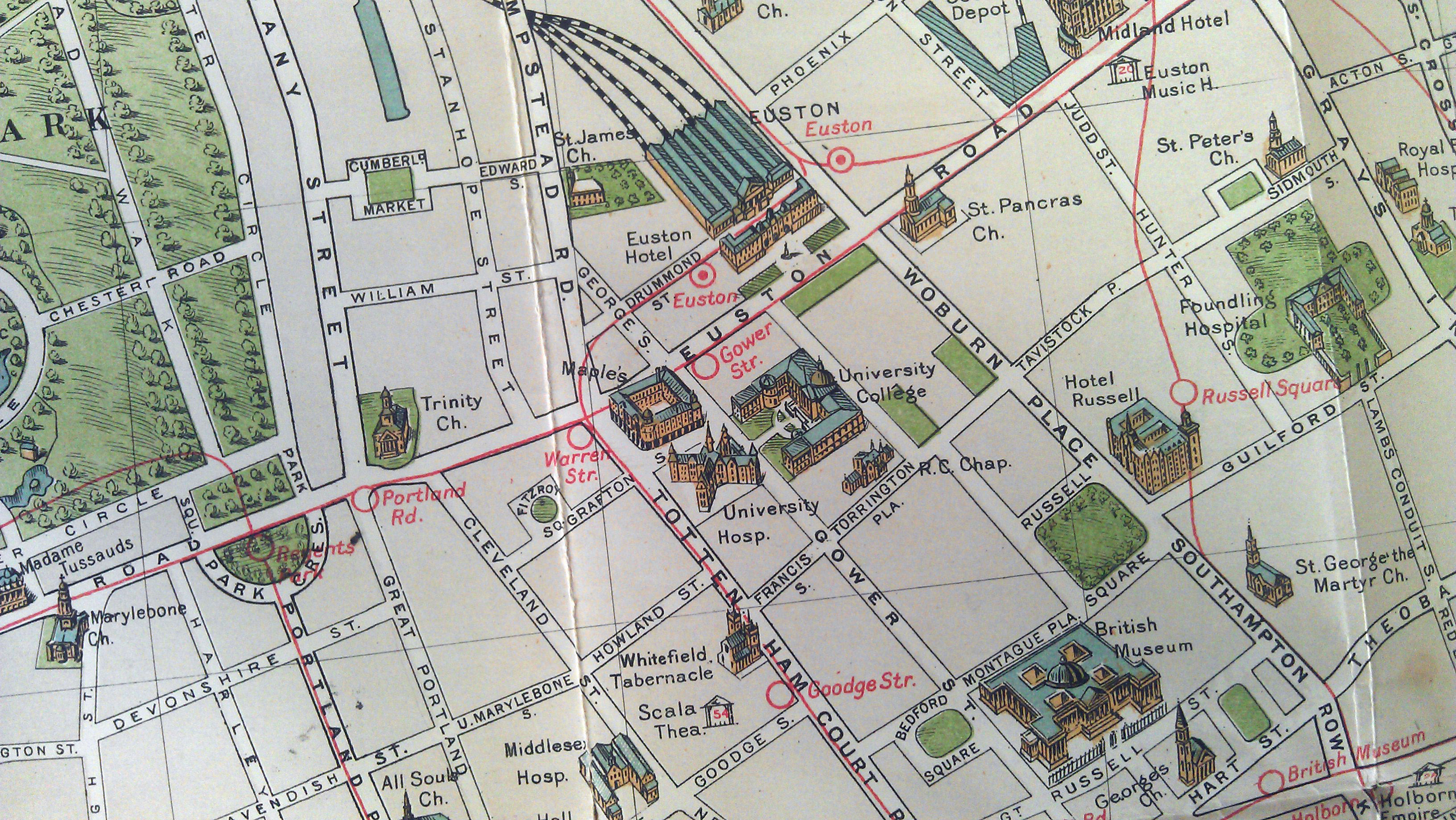 Road Map Central London.Bacon S Picture Map Of London Mapping London