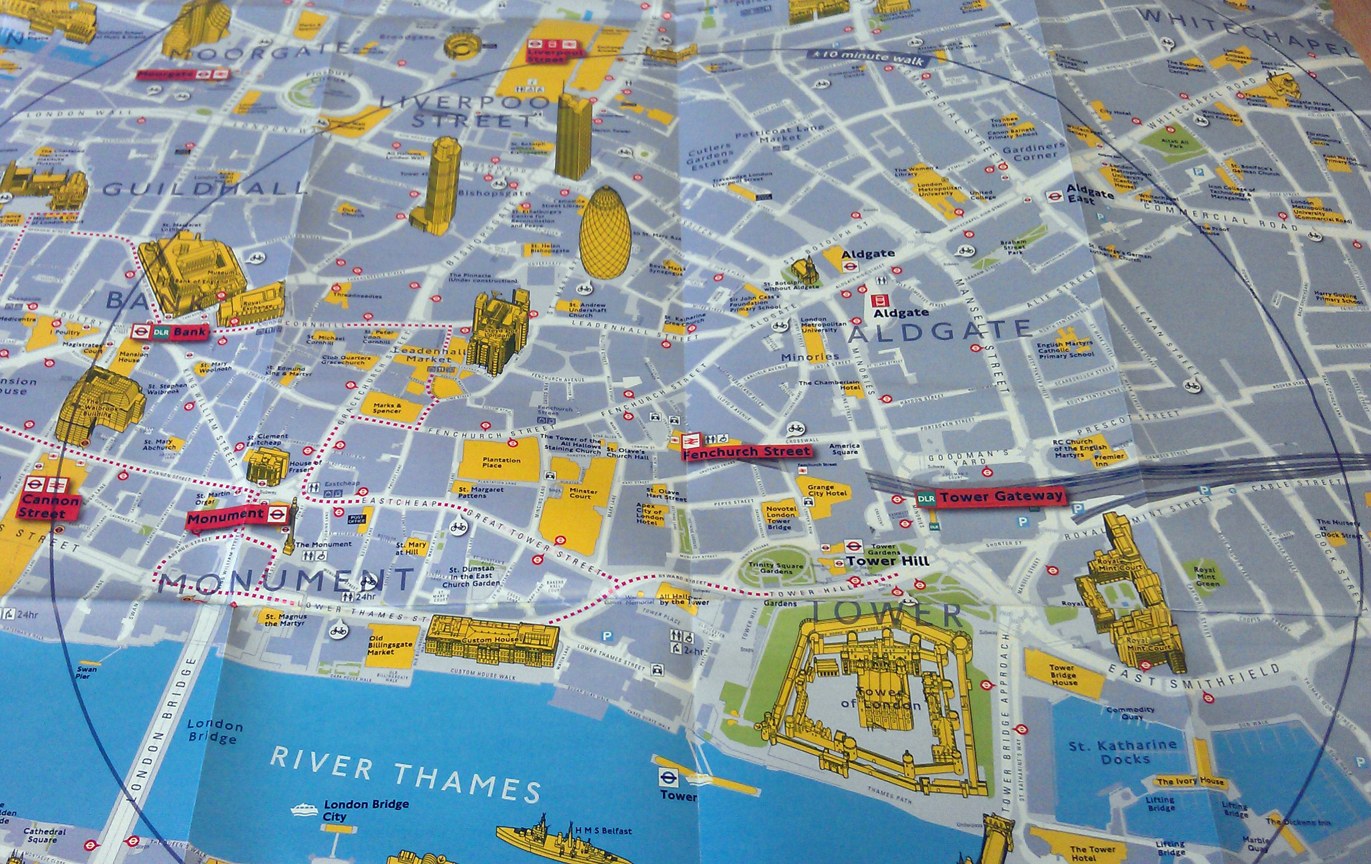 TfL Why Not Walk It Maps – Map Of Central London For Tourists