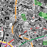Jenni Sparks: Hand-Drawn Map of London