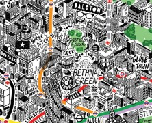 Jenni Sparks: Hand-Drawn Map of London
