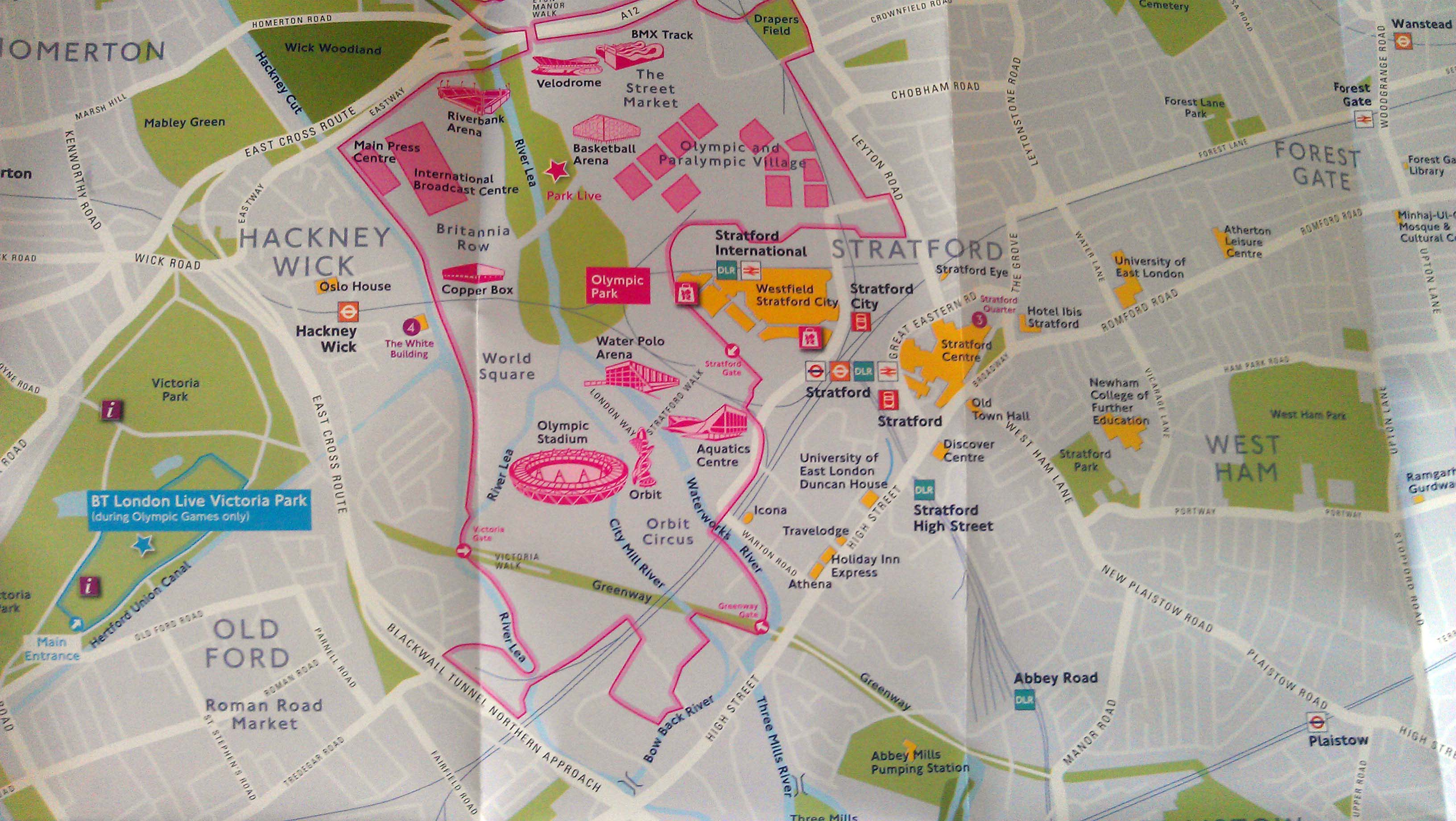 Summer 2012 Map – Map of Central London Landmarks