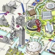 Olympic Venues as an Infographic Map