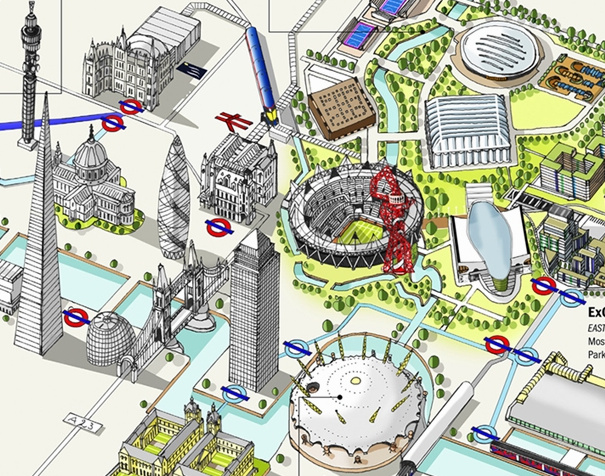 Olympic Venues As An Infographic Map Mapping London