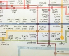 A Tube Map Inspired by Charles Rennie Mackintosh