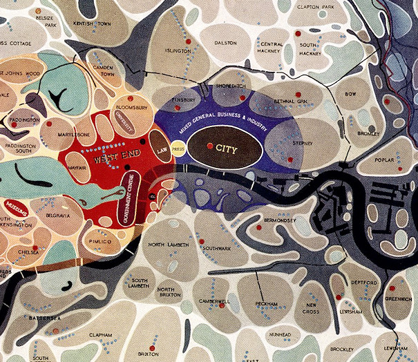 Map of London Social and Functional Analysis 1943