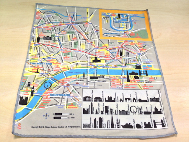 Silky Map of Central London Mapping London
