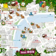 London Christmas Map