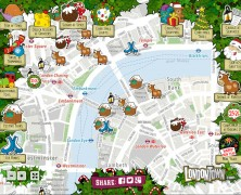 London Christmas Map