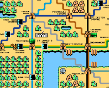 Computer Game Sprite Map of Zone 1