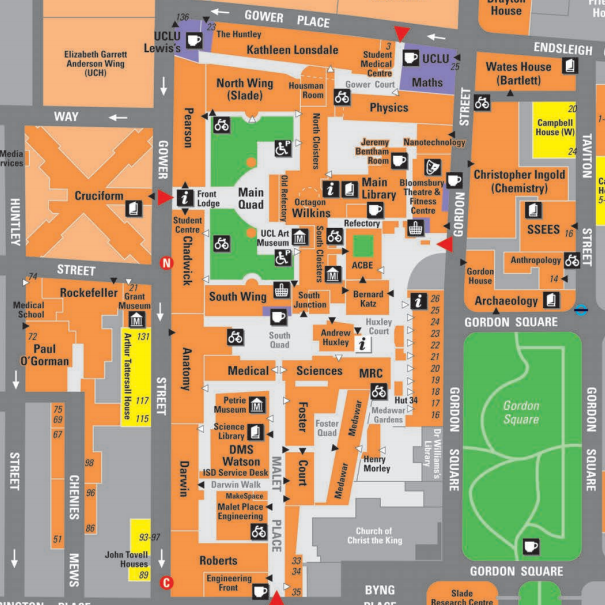 Ucl Campus Map University Campus Maps | Mapping London