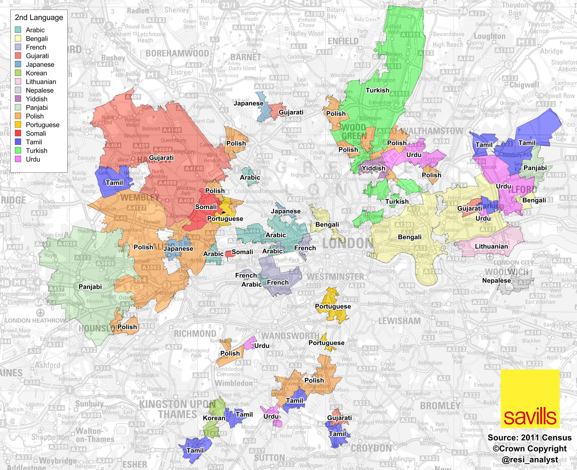 Main Language Spoken in England Britain