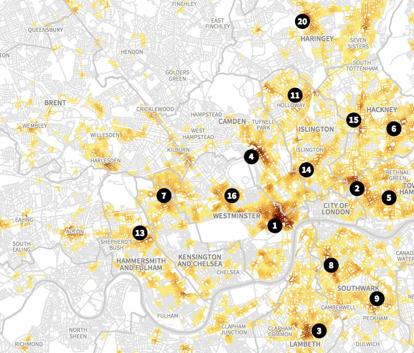 Violent Crime Hotspots in London
