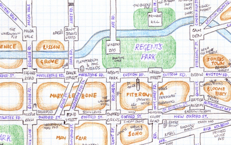 Simplifying Londons Network Mappi Lundi A Hand Drawn Map – Map Of Central London For Tourists