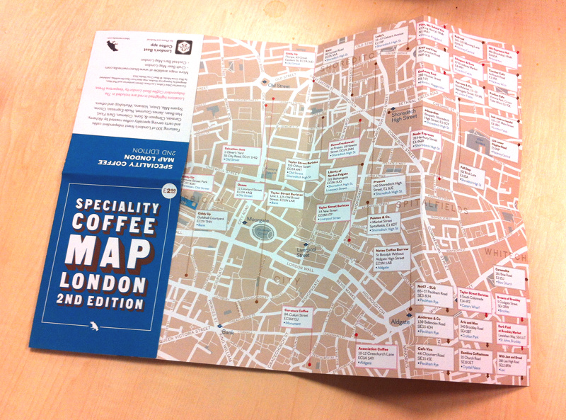 The Map Shop London.Pocket Maps Of Craft Beer And Coffee Mapping London
