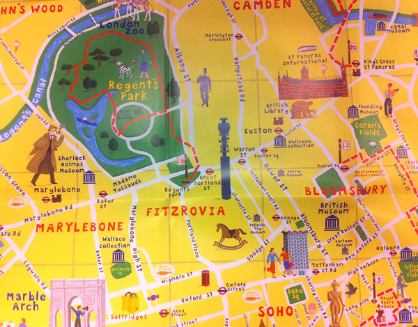 The Adventure Walks London Map – Tourist Map of London England