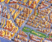 Maps of Shoreditch Past & Future by Adam Dant