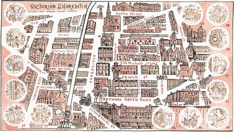Map Of Shoreditch Maps of Shoreditch Past & Future by Adam Dant | Mapping London