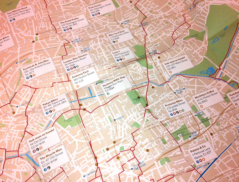 london cycle guide a mini map