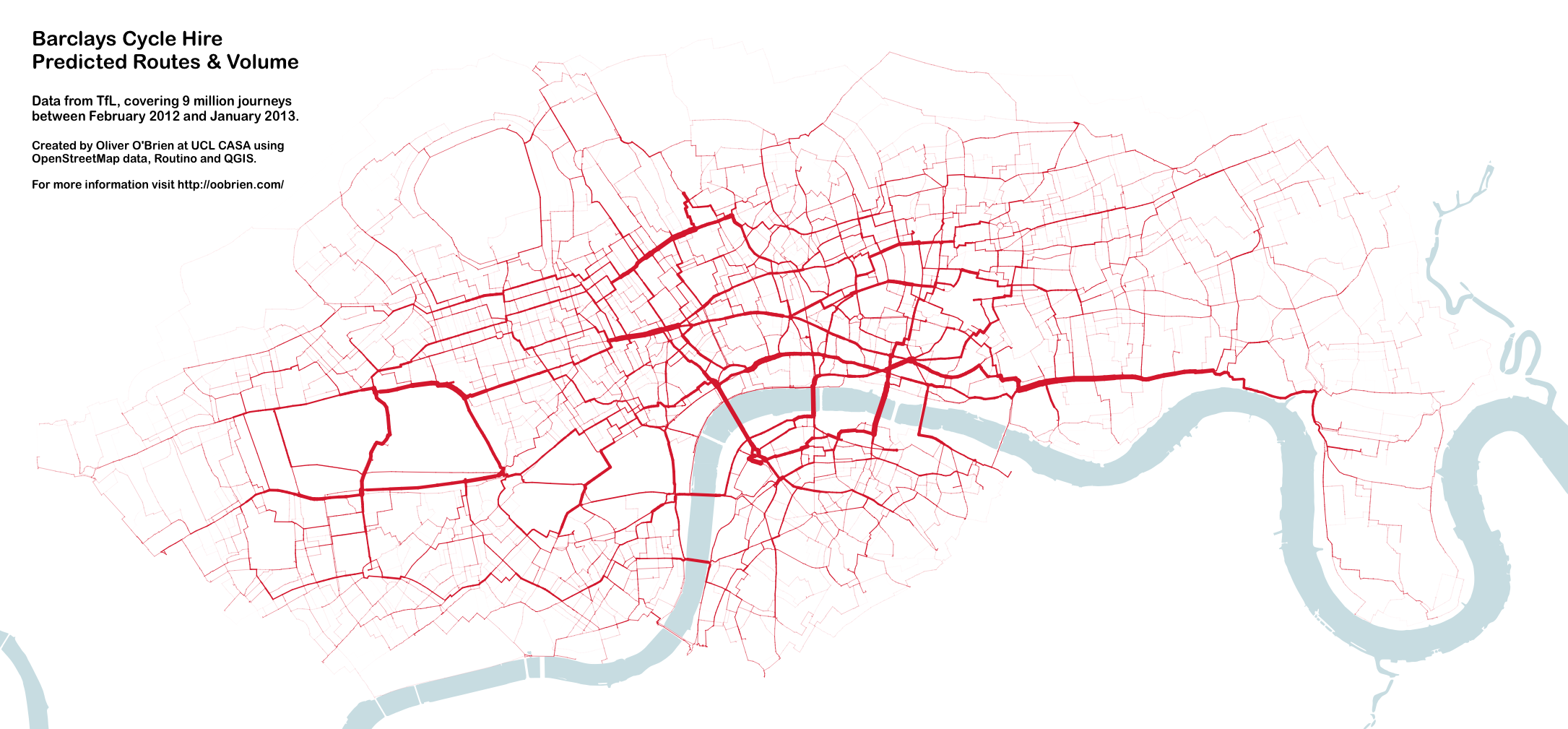 Cycle Hire Journeys The Central London Grid Mapping London - London map png