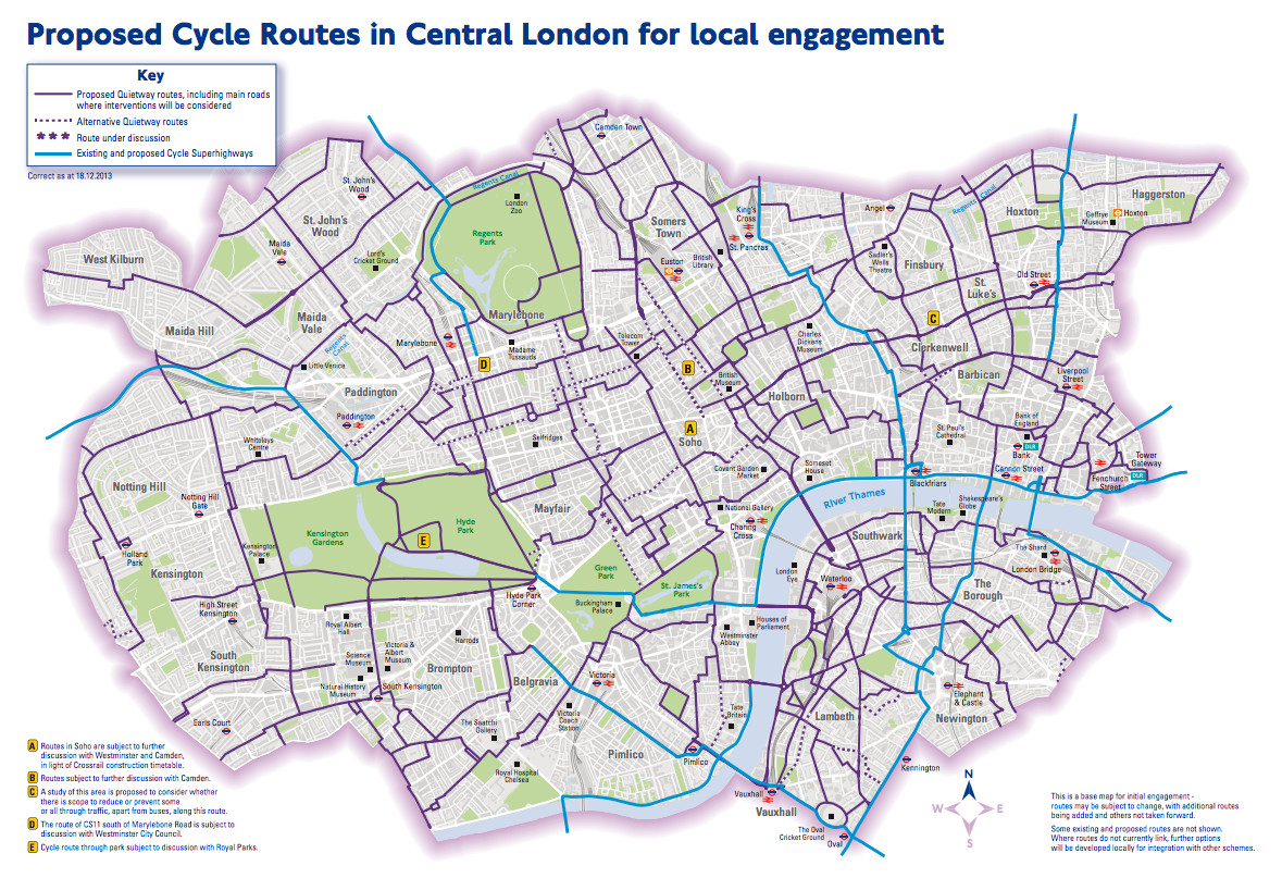 Cycle Hire Journeys The Central London Grid – London Full Map