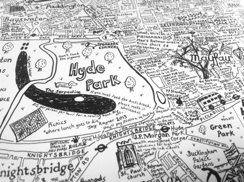 City of Westminster - A Hand-Drawn Map Print