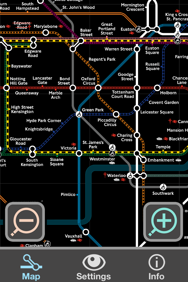 Colourblind Tube Map Mapping London