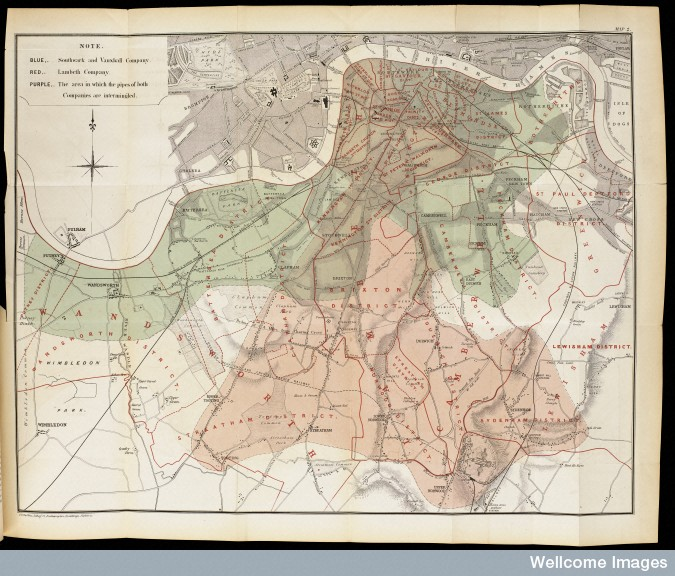 L0063432 Map showing the intimate mixture of the water supply...