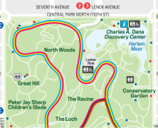 The Central Park Running Map