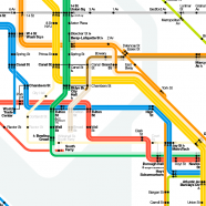 Vignelli's Map of the New York Subway