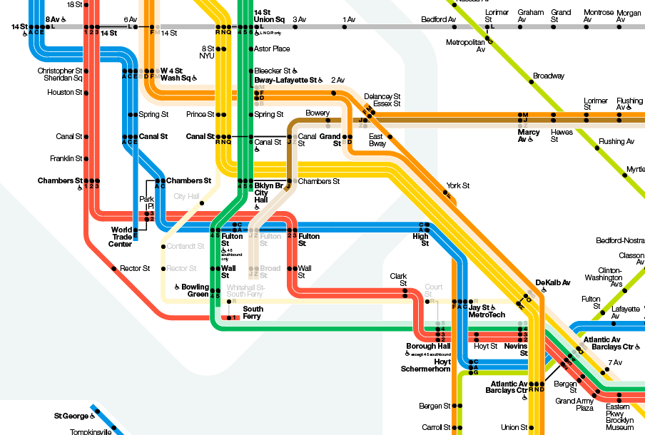 Vignelli\'s Map of the New York Subway | Mapping London