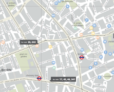 Urban Walkabout Map of of Clerkenwell