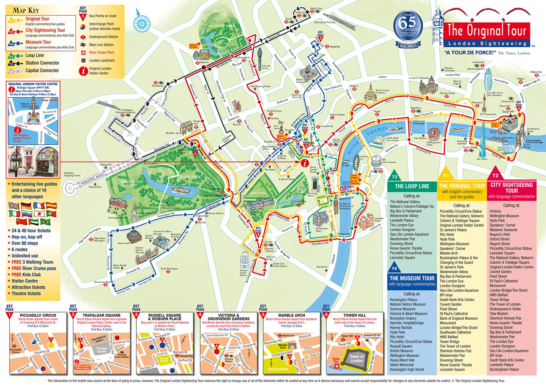 London Map Attractions.Tour Bus Maps Mapping London