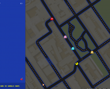 Pac-Man on Google Maps!