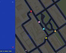 Pac-Man on Google Maps!