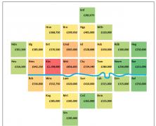 House Prices – A Borough Cartogram